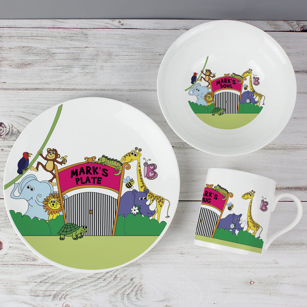 Personalised Zoo Breakfast Set from Sassy Bloom Gifts - alternative view