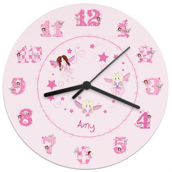 Personalised Fairy Clock white background