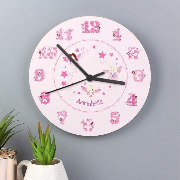 Personalised Fairy Clock with personalised name