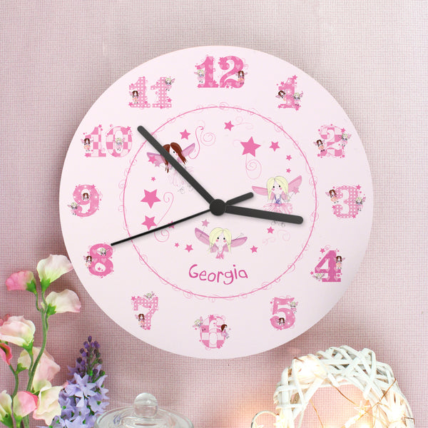 Personalised Fairy Clock