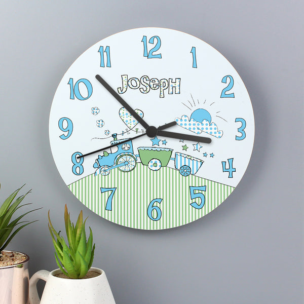 Personalised Whimsical Train Clock from Sassy Bloom Gifts - alternative view