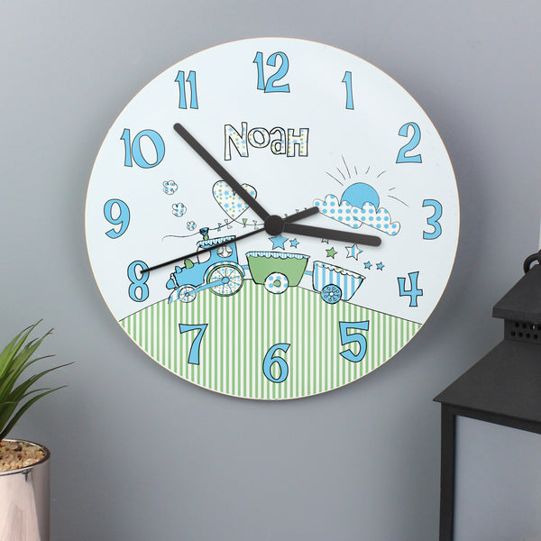 Personalised Whimsical Train Clock lifestyle image