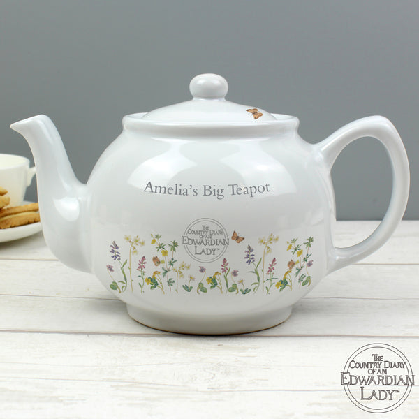 Personalised Country Diary Wild Flowers Teapot lifestyle image