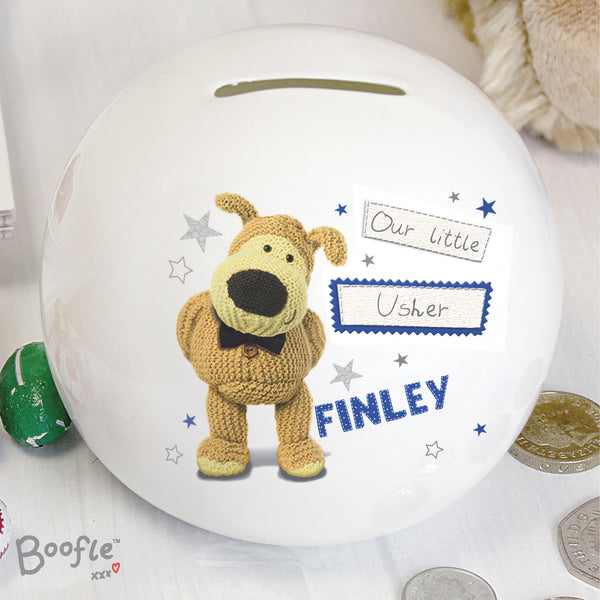 Personalised Boofle Boys Wedding Money Box from Sassy Bloom Gifts - alternative view