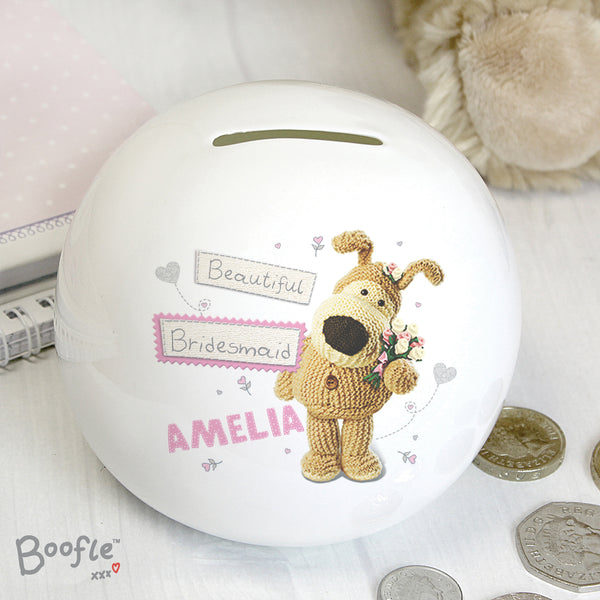Personalised Boofle Girls Wedding Money Box from Sassy Bloom Gifts - alternative view