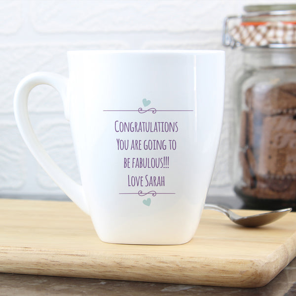 Personalised Mum to Be Stork Latte Mug from Sassy Bloom Gifts - alternative view