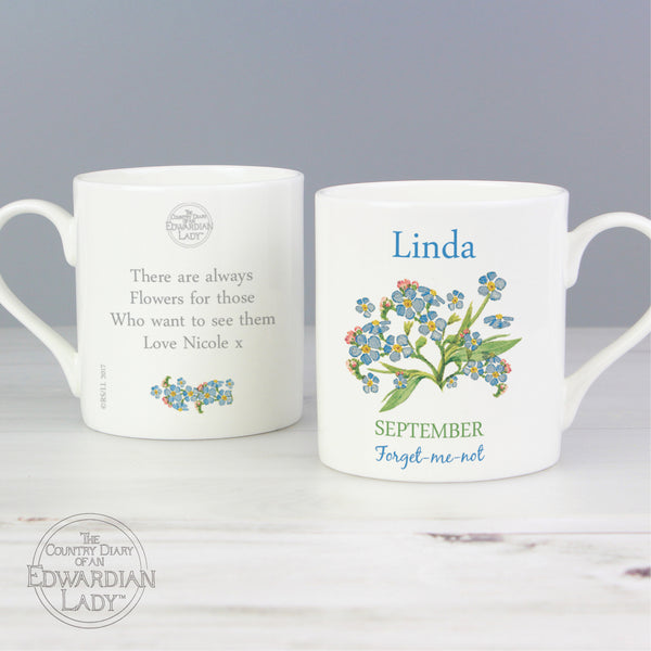 Personalised Country Diary 'September Flower Of The Month' Balmoral Mug from Sassy Bloom Gifts - alternative view