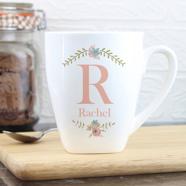 Personalised Floral Bouquet Latte Mug from Sassy Bloom Gifts - alternative view