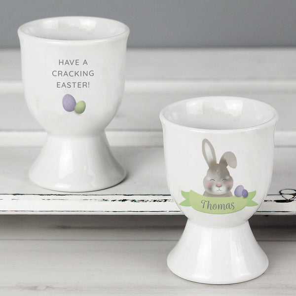 Personalised Easter Bunny Egg Cup lifestyle image
