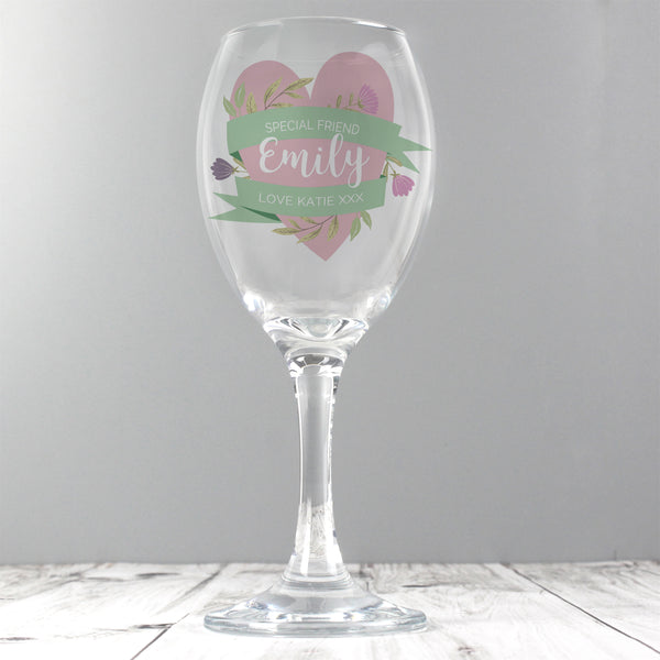 Personalised Floral Mother's Day Wine Glass from Sassy Bloom Gifts - alternative view