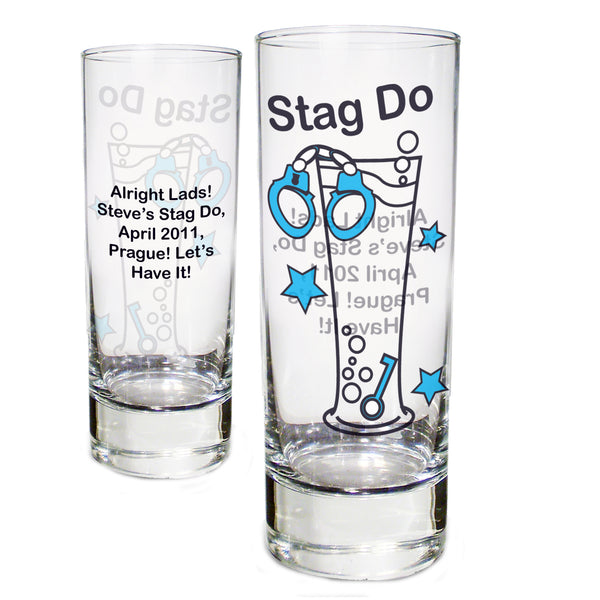 Personalised Stag Do Shot Glass white background