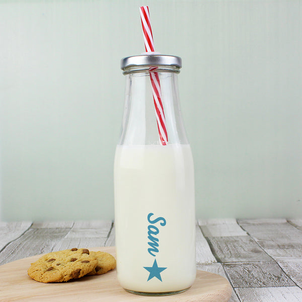 Personalised Star Motif Milk Bottle from Sassy Bloom Gifts - alternative view