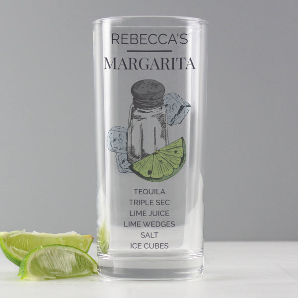 Personalised Margarita Hi Ball Cocktail Glass from Sassy Bloom Gifts - alternative view