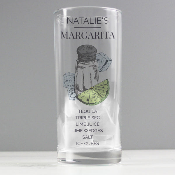 Personalised Margarita Hi Ball Cocktail Glass lifestyle image