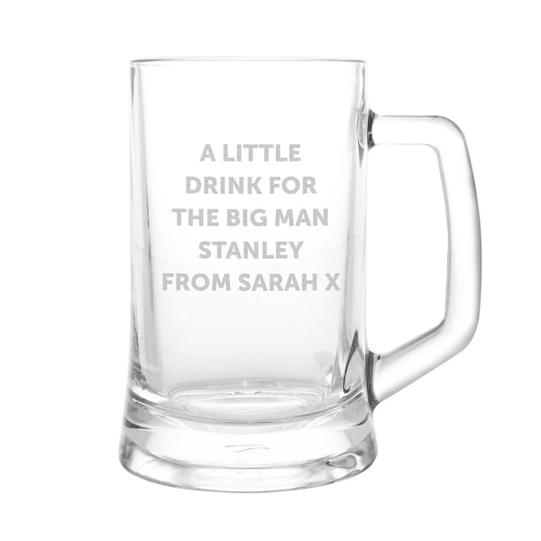 Personalised Stern Half Pint Tankard from Sassy Bloom Gifts - alternative view
