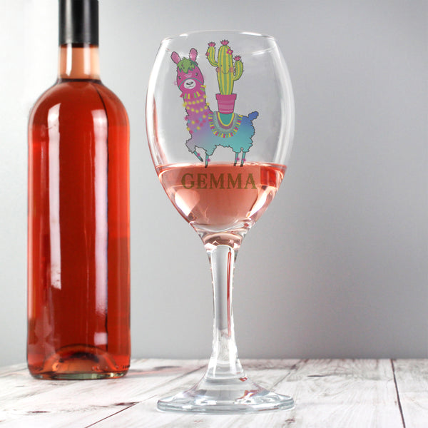 Personalised Llama Wine Glass from Sassy Bloom Gifts - alternative view