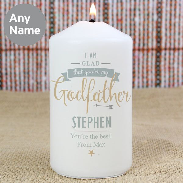 Personalised I Am Glad... Godfather Candle from Sassy Bloom Gifts - alternative view