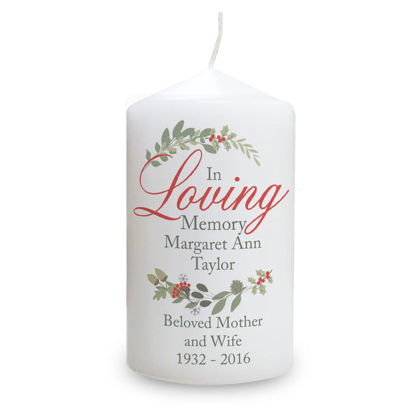 Personalised In Loving Memory Wreath Candle from Sassy Bloom Gifts - alternative view