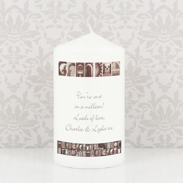Personalised Affection Art Any Message Candle from Sassy Bloom Gifts - alternative view