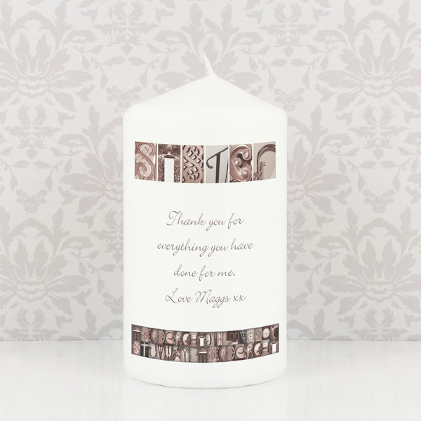 Personalised Affection Art Any Message Candle lifestyle image