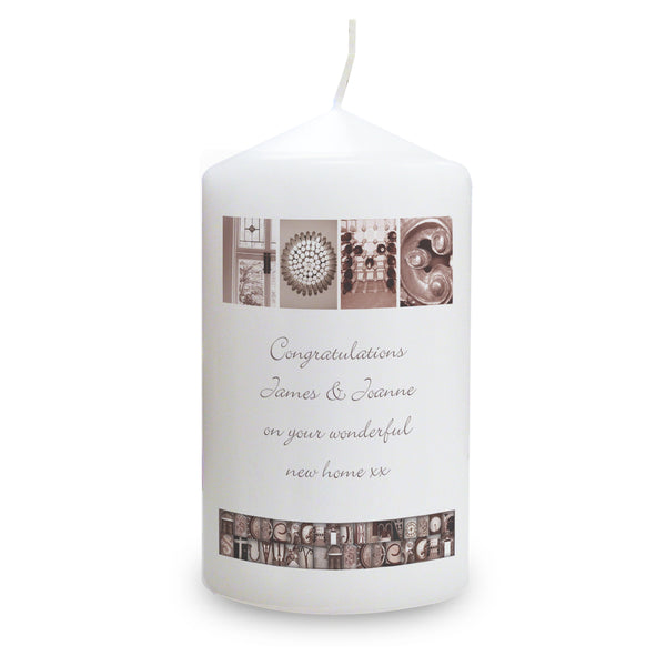 Personalised Affection Art Any Message Candle with personalised name