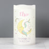 Personalised Baby Unicorn Nightlight LED Candle