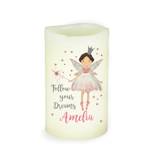 Personalised Fairy Princess Nightlight LED  Candle white background