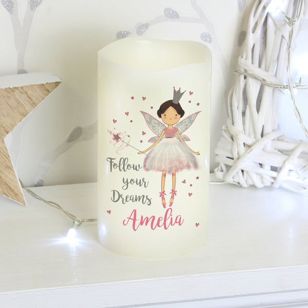 Personalised Fairy Princess Nightlight LED  Candle with personalised name