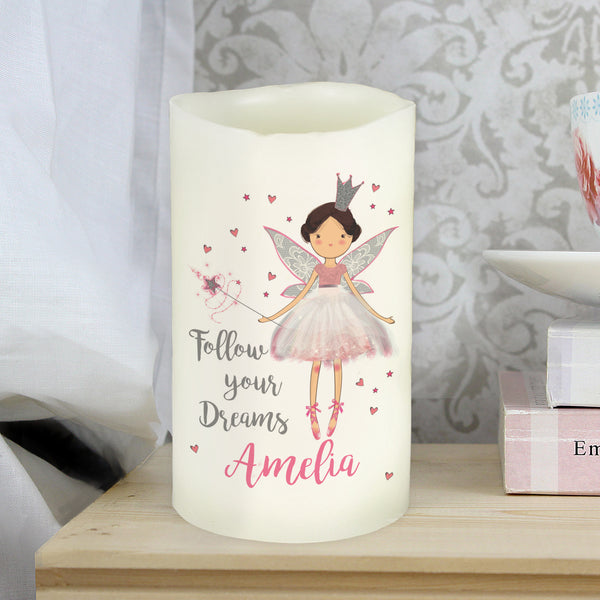 Personalised Fairy Princess Nightlight LED  Candle