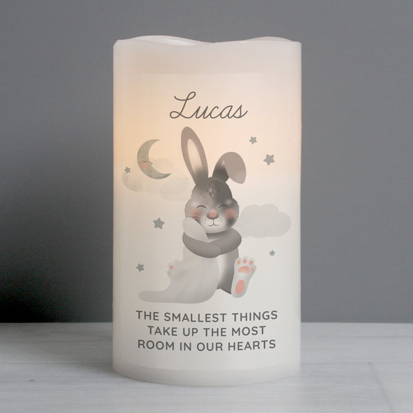 Personalised Baby Bunny LED Candle from Sassy Bloom Gifts - alternative view