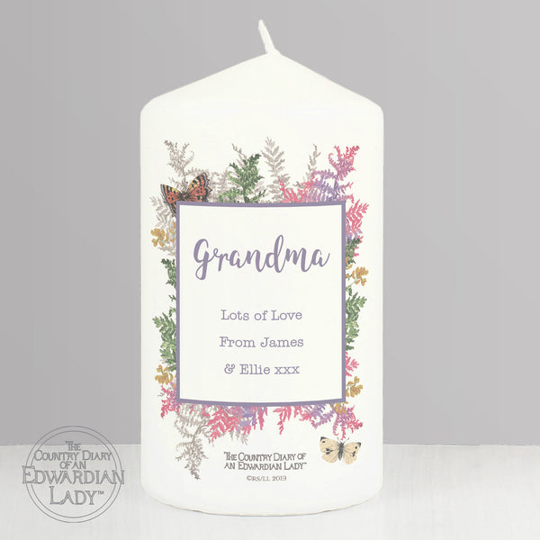 Personalised Country Diary Botanical Pillar Candle from Sassy Bloom Gifts - alternative view