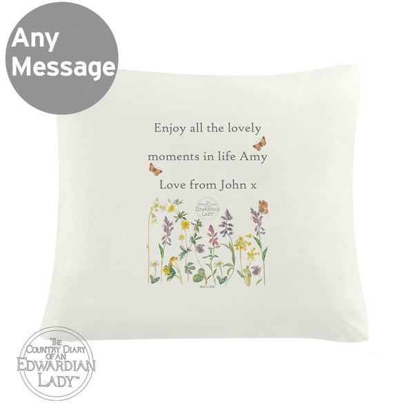 Personalised Country Diary Wild Flowers Cushion Cover from Sassy Bloom Gifts - alternative view