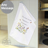 Personalised Country Diary Wild Flowers White Tea Towel
