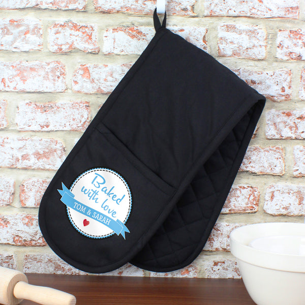 Personalised Baked With Love Oven Glove from Sassy Bloom Gifts - alternative view