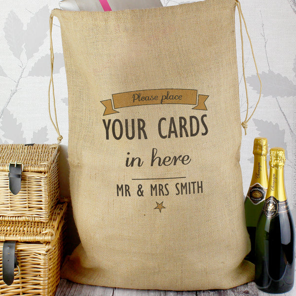 Personalised Classic Parcel Hessian Sack from Sassy Bloom Gifts - alternative view