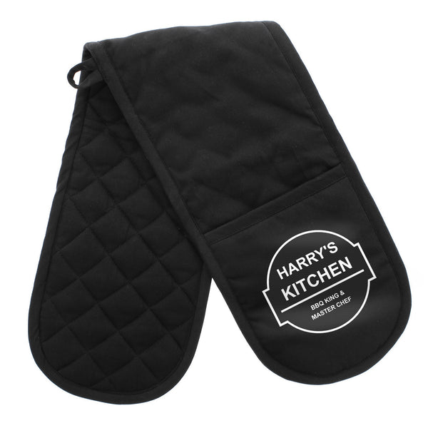 Personalised BBQ & Grill Oven Gloves white background