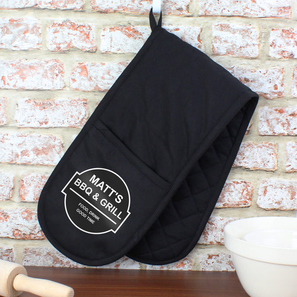 Personalised BBQ & Grill Oven Gloves from Sassy Bloom Gifts - alternative view