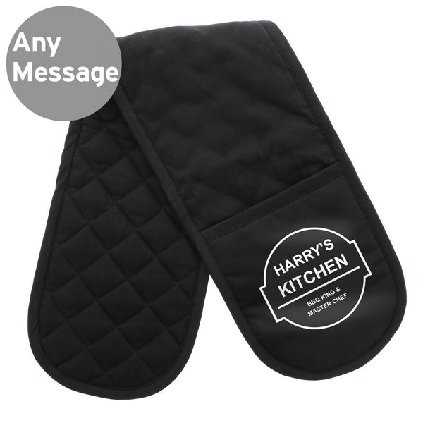 Personalised BBQ & Grill Oven Gloves lifestyle image
