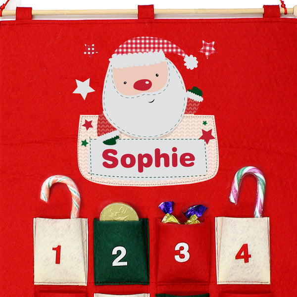 Personalised Pocket Santa Felt Advent Calendar from Sassy Bloom Gifts - alternative view
