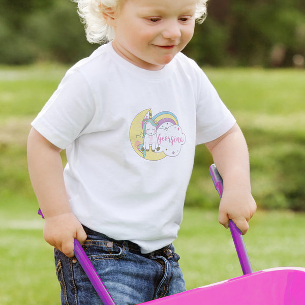 Personalised Baby Unicorn T shirt 3-4 Years from Sassy Bloom Gifts - alternative view