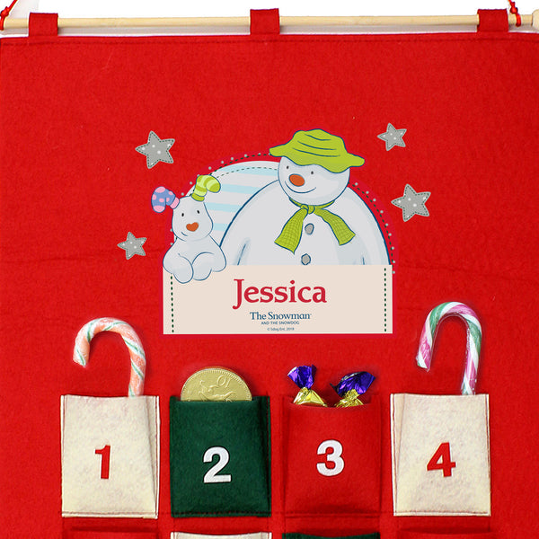 Personalised The Snowman and the Snowdog Felt Advent Calendar lifestyle image