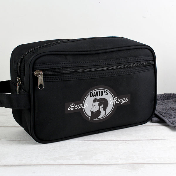 Personalised Beard Things Black Wash Bag from Sassy Bloom Gifts - alternative view