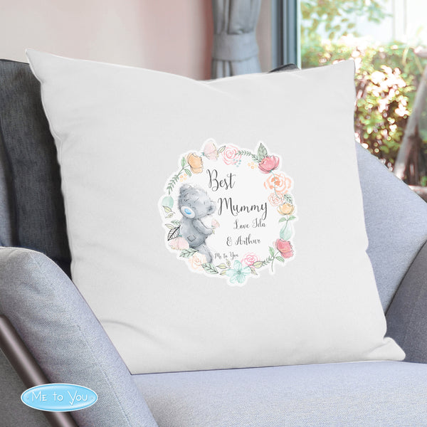 Personalised Me to You Floral Cream Cushion Cover from Sassy Bloom Gifts - alternative view