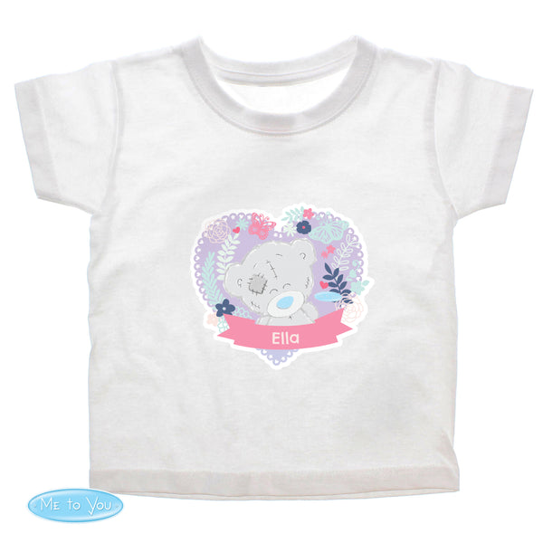 Personalised Tiny Tatty Teddy Girl's T-shirt 3-4 Years white background