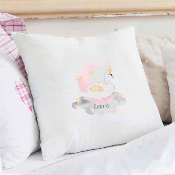 Personalised Swan Lake Cushion Cover from Sassy Bloom Gifts - alternative view