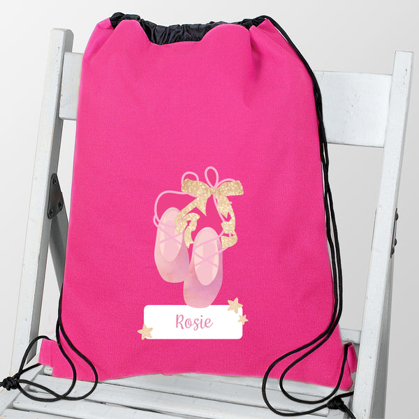 Personalised Swan Lake Ballet Swim & Kit Bag with personalised name