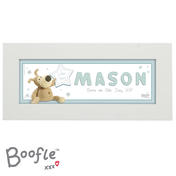 Personalised Boofle It's a Boy Name Frame white background