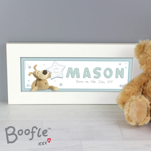 Personalised Boofle It's a Boy Name Frame from Sassy Bloom Gifts - alternative view