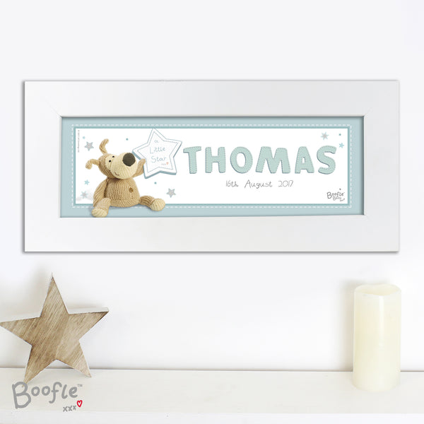 Personalised Boofle It's a Boy Name Frame lifestyle image