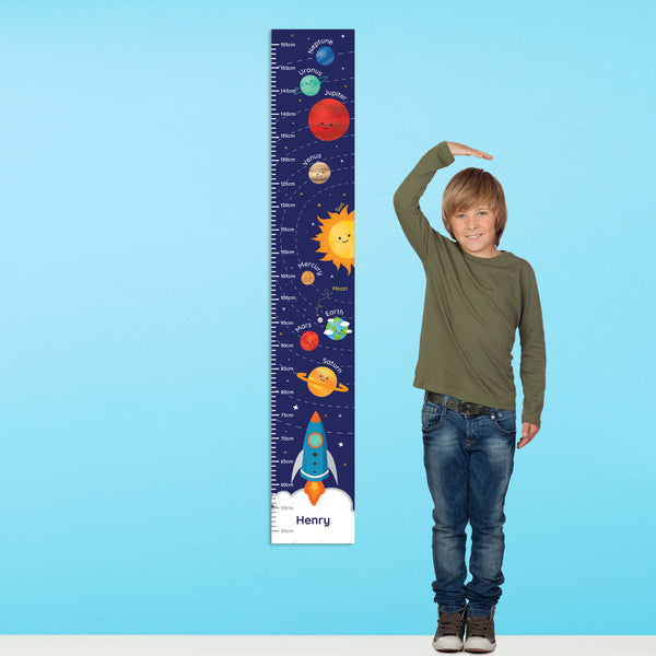 Personalised Solar System Height Chart from Sassy Bloom Gifts - alternative view